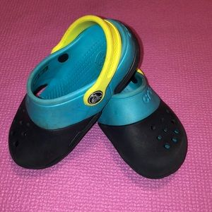 Kids Crocs Blue and Yellow
